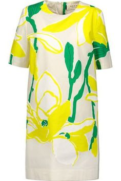 MARNI WOMAN PRINTED COTTON DRESS. #marni #cloth #