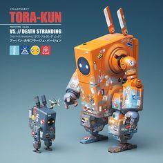 TORA-KUN VS. DEATH STRANDING on Behance Arte Robot, Robot Art, Cool Robots, Cool Toys, Robot Design, Game Design, 3d Design, Game Character Design, Character Concept