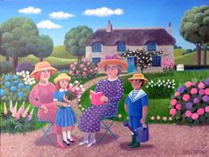 """Jean-Pierre Lorand, Belgium, """"Once Upon a Time"""", Acrylic on canvas on board, Illustrations, Illustration Art, Naive Art, City Life, Once Upon A Time, Surrealism, Storytelling, Puzzles, Folk Art"""