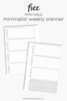 Free Planner Printables in A5, Pocket, Personal Size
