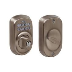 Schlage Plymouth Bright Brass Keypad Deadbolt BE365 PLY 505 605 at The Home Depot - Mobile