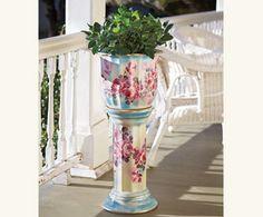 Chianti Rose Porcelain Planter...so pretty.