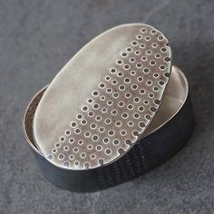 Silver and Enamel Box - Tidal Series - Caroline Finlay