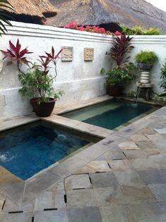 Courtyard with small pools/spas