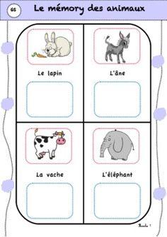 Voici Le mémory des animaux sur le même principe que le jeu de rimes.  Les enfants doivent associer 2 mots qui riment en attribuant un aliment à chaque animal de sa planche de jeu.