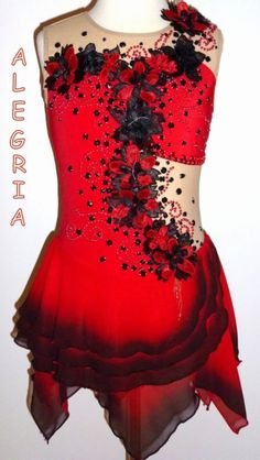 Spanish Theme Ice Figure Skating Dress/Dance costume/Twirling outfit Made to Fit