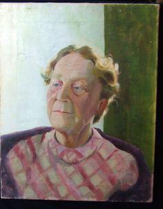 "A Vintage Oil Painting 'Portrait of A Lady"""