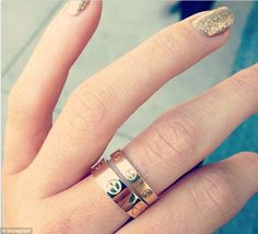Twice as nice: Kylie already has two of the Cartier rings which cost $950 and $1600