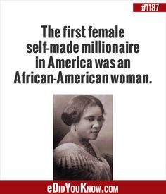 Oh yeah ! Fascinating Facts, Interesting Facts, Odd Facts, Margaret Sanger, Self Made Millionaire, Did You Know Facts, The More You Know, African American Women, Dominatrix