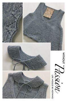 성인용 비스티에 도안으로 아동용 비스티에를 떴다. 실과 바늘을 줄인다고 모두 아동용이 되는 건 아니지만... Baby Vest, Baby Cardigan, Baby Knitting, Wool Felt, Knitting Patterns, Diy And Crafts, Stitch, Sewing, Sweaters