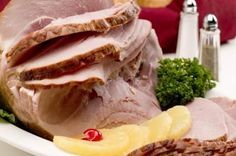 A precooked spiral sliced ham require only minimal heating before serving.