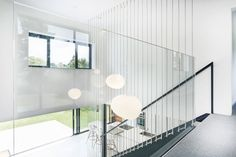 Architecture, Picturesque Contemporary Runners House By Ar Design Combining Old World Charm With Contemporary Luxury Featuring Cool Staircase And Glass Divider: Contemporary Traditional Home Design with Unique Combination