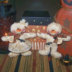 Arte popular primitivo Halloween momia por PrimitivelyPrecious