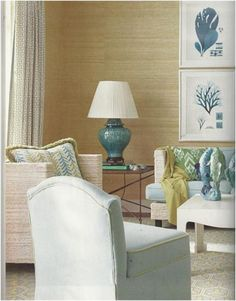 Textured wall treatment!!! Love this color scheme for the beach house!!! Bebe'!!!