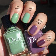 Dior spring nail comparison at thebeautylookbook