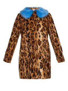 Papa Puss jaguar-print faux-fur coat  | Shrimps | MATCHESFASHION.COM UK
