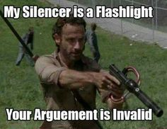 "How the silencer was actually a flashlight: | The 33 Most Frustrating Things About ""The Walking Dead"""
