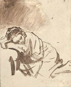 Rembrandt. A Woman Sleeping c. 1655 The British Museum, London I fell in love with this age 18 as an Art student in London
