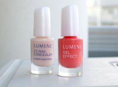 CC and Gel Effect Nail Polishes pictured by the Viilankantolupa blog. #nailpolish #lumene