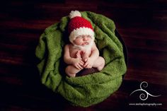 Baby Santa Photo by Starla Photography http://www.starlaphotography.com/    Handmade props by My Simply Sweet Little Boutique www.facebook.com/MSSLB
