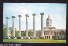 University of Missouri Tigers Columbia MO The Columns Bldg Vintage Postcard | eBay