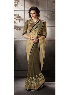 Lovely Gray Half N Half Fancy Fabric Saree. Fabric : Fancy Fabric, Work : Embroidery , Color: Gray. Free Shipping in India and Cash On Delivery Available. Also, International Shipping Available. @ ₹4,676.00