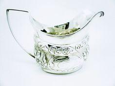 Solid Silver Cream Jug Sterling Antique Milk by DartSilverLtd