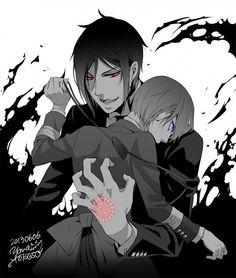 Ciel Phantomhive and Sebastian Michaelis #Black Butler #Kuroshitsuji