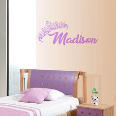 Crown Princess Lexi Large Wall Sticker Choice of Size and Colours Baby Vinyl Decal Bed Room Nursery Art Girl
