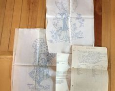 UNCUT Holly Hobbie Embroidery Pattern by SewVintageNow on Etsy