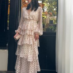 Chiffon Dress Long, Ruffle Dress, Boho Dress, Ruffle Cake, Elegant Dresses, Casual Dresses, Fashion Dresses, Maxi Dresses, Beach Dresses