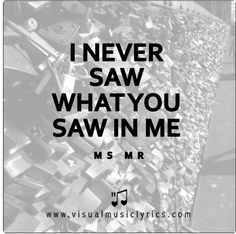 I NEVER SAW WHAT YOU SAW IN ME <3   #MSMR #HURRICANE #MUSIC #LYRICS #LOVETHISLYRICS #VISUALMUSICLYRICS #SPREADHOPE