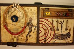 Elements of the Game--Junk Drawer Series created by Whawi member artist Kathy Moore.