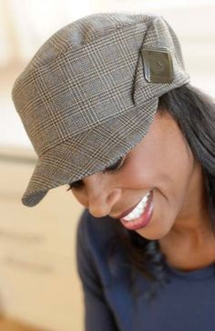 Classic Cap  - IJ928 from IndygoJunction.com created from recycled men's wool suit