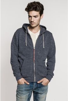Cotton/polyester zip-up hoodie with two handy front pockets. - Replay