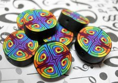 Polymer clay beads by TLS Clay Design.