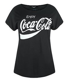 Plus Size Black Coca Cola T-Shirt | New Look