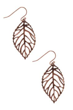 Dressing Your Truth - Type 3 Leafing on a Jet Plane Earrings