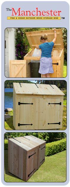 "Manchester Pine Wood Storage Bin BIN600 - Outside Dim: 28"" x 50 1/2"" x 50 1/2"", Inside Dim: 24"" D x 46"" W x 30 1/2"" H"
