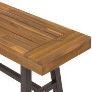 Best Choice Products 3 Piece Acacia Wood Picnic Style Outdoor Dining Table Furniture Image 6 of 6