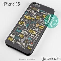 Arctic Monkeys Lyrics Phone case for iPhone 4/4s/5/5c/5s/6/6 plus
