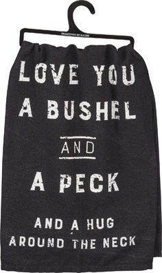 Tea Towel Bushel and a Peck