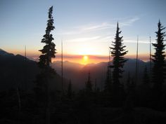 Hiked this yesterday for 8 hours.  Sunset, Flower Ridge, Strathcona Park, Vancouver Island BC
