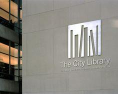 Salt Lake City Public Library Signage System, Pentagram NY, 2003