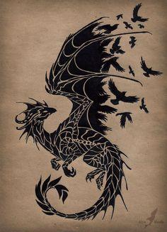 173d9825f2ee2fae4f3169fef7989933--game-of-thrones-tattoo-black-bird-tattoo.jpg (700×971)
