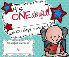 FREEBIE! Cute 100 day certificates! Boy and girl themes!