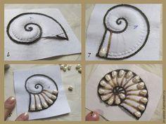 * Вышиваем бисером кулон «Наутилус» - Ярмарка Мастеров - ручная работа, handmade