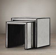 Strand Mirrored Nesting Side Tables | Side & Item Tables | Restoration Hardware
