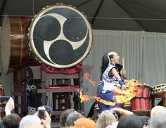 FireEater/Taiko Show By:ChaChaofBoca Hatsume Festival April-2016 Morikami Museum, Florida