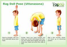 Rag Doll Pose for yoga Uttanasana